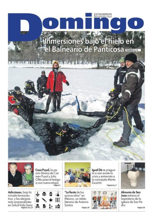 """Portada del Dominical del """"Diario del Alto Aragón"""" del domingo 3 de marzo de 2013."""