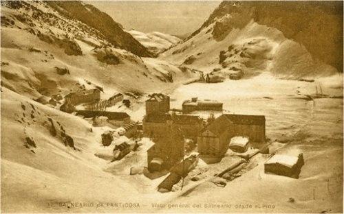 vista invernal del Balneario de Panticosa, 1915 (Fuente: Panticosa Resort).