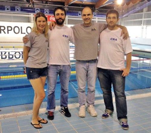 Natali, Enzo, Alonso y Fernando, los buceadores que defendieron los colores de la FARAS.