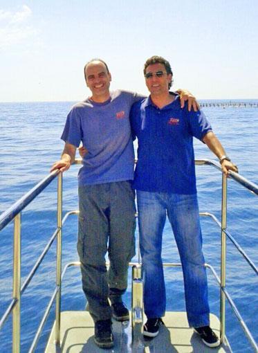 Alfonso y Jorge, instructores de la expedición zca.
