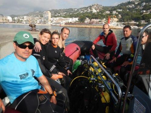 Los alumnos y los instructores de ZCO embarcados.