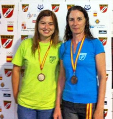 Mapi Sánchez (ZCO) y Marifé Abad (Club Atlantes), únicas reprsentantes aragonesas y medallistas en el Campeonato de España de BC 2014.